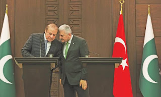 The then Prime Minister of Pakistan Nawaz Sharif supported Erdogan