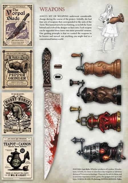 Alice juego Armas