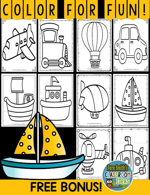 Click Here to Downlead This Color By Number Addition, Subtraction, Multiplication, and Division Transportation Printables Resource Bundle with a FREE BONUS 10 Page Coloring Pages for Your Classroom Today!