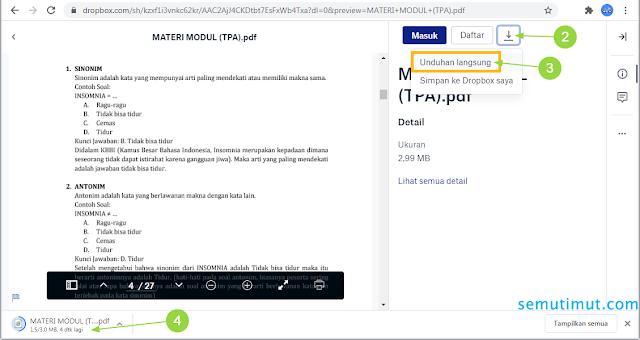 cara download semua file di dropbox