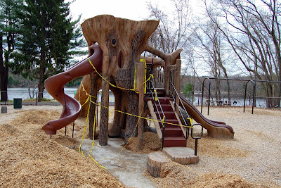 repairs to the playground were completed last week, assuming inspection confirms  they are good, the playground should be able to open after May 16