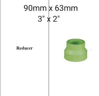 Jual reducer pipa ppr lesso 90mm × 63mm