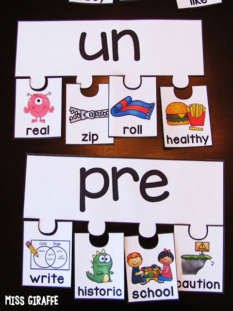 Prefixes and suffixes activities and fun ways to teach it to 1st grade or even kindergarten students