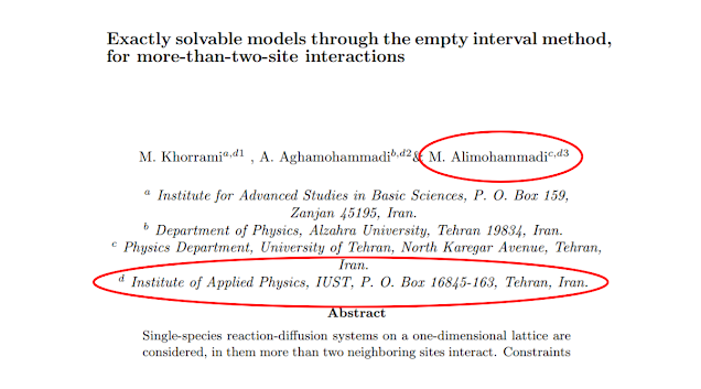 SPND borrowed the name of another civilian research institution, the Iran University of Science and Technology (IUST) in the early 2000s as shown by a research paper authored by martyred scientist Masoud Alimohammadi , a key member of Iran's pre-2003 nuclear weapons program