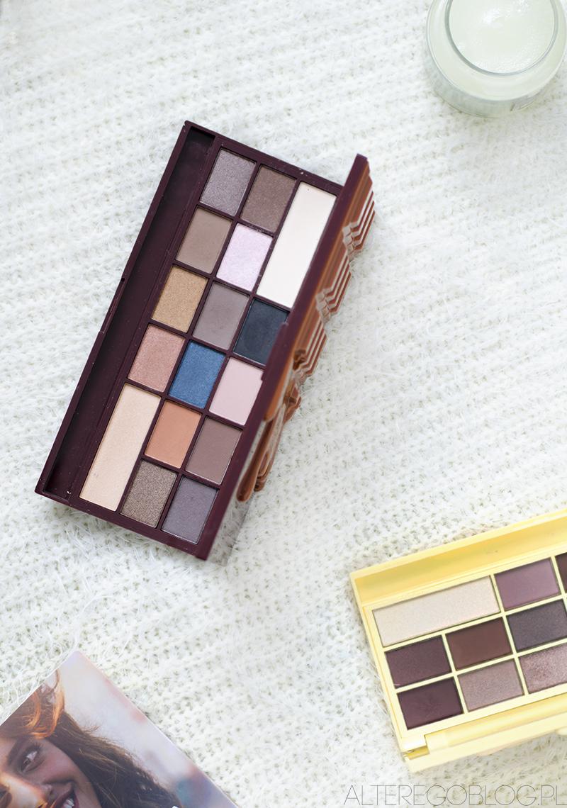 recenzja, makijaż, ekobieca.pl, i heart makeup, czekoladowa paleta, cienie