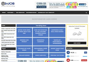 Injob Blogger template free download