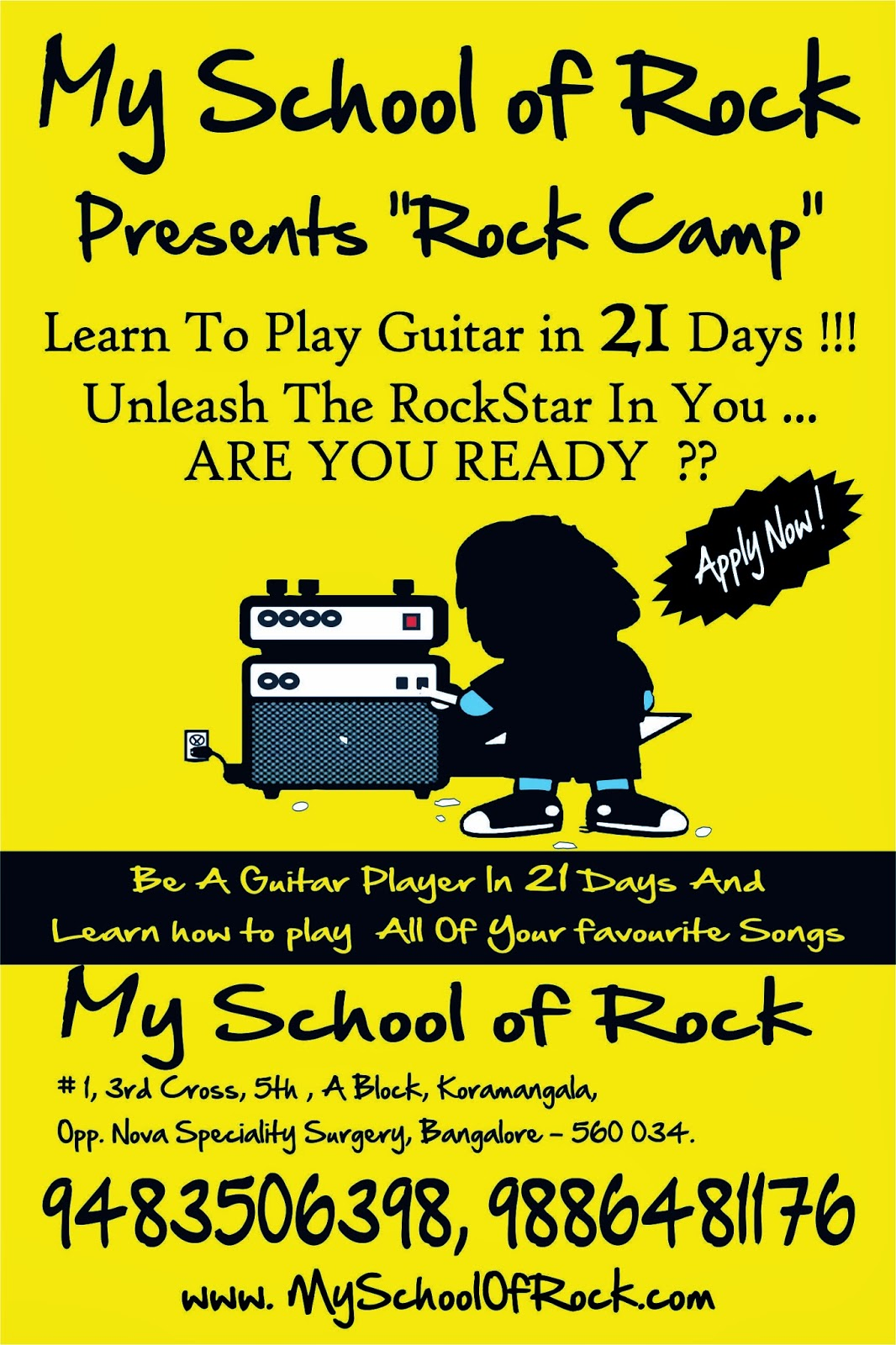 rock camp 2014 guitar classes near me koramangala bangalore. Black Bedroom Furniture Sets. Home Design Ideas