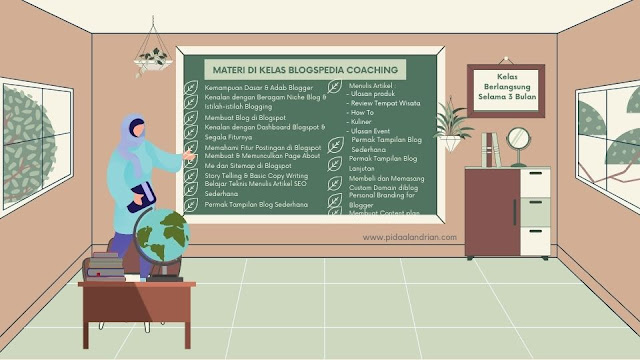 Materi di kelas Blogspedia Coaching Batch 1