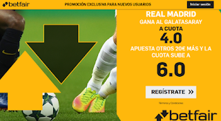 betfair supercuota Real Madrid v Galatasaray 6-11-2019