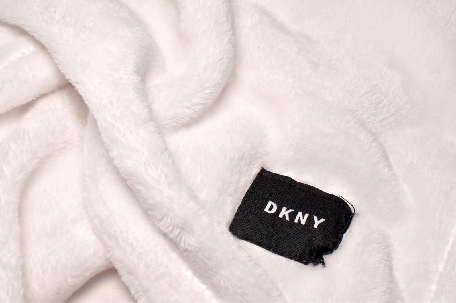 TK Maxx White DKNY Blanket
