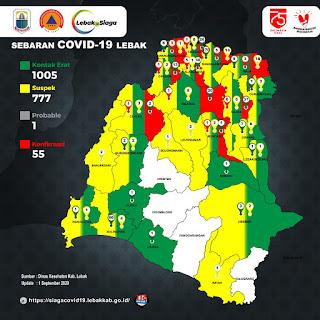 Sebaran Covid 19 di Kabupaten Lebak