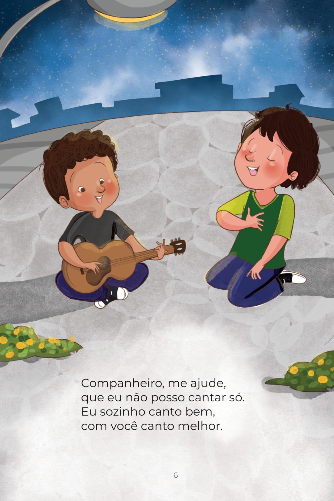 Companheiro, me ajude, que eu não posso cantar só. Eu sozinho canto bem, com você canto melhor.