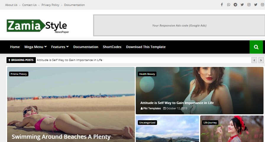 Zamia Style blogger template is a premium and free news magazine blogger template, acquiring to your needs and your customers' expectations.