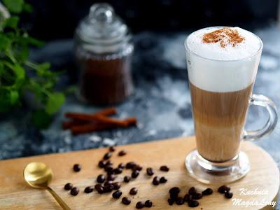 Smakowa kawa latte z cynamonem
