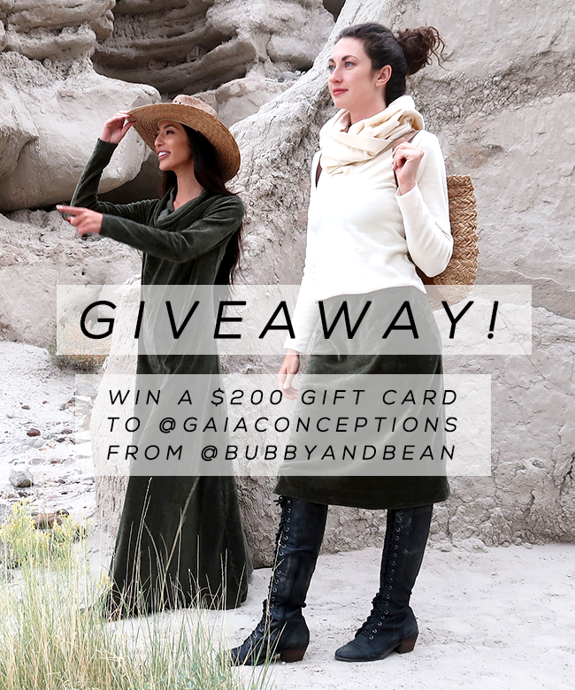 $  200 Gift Card to Gaia Conceptions Eco-Conscious Clothing
