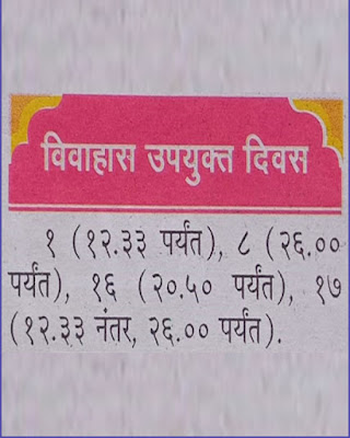 Marathi Shubh Vivah and Shadi Muhurat in September 2021