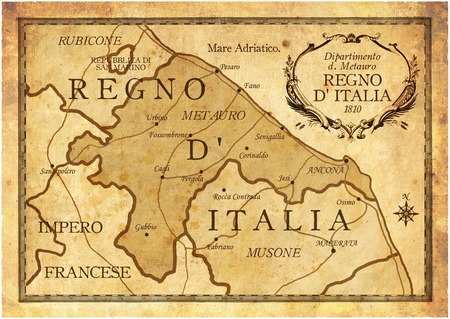 Cartina Italia 1810.Pergolando Pergola Nel Regno Italico Napoleonico