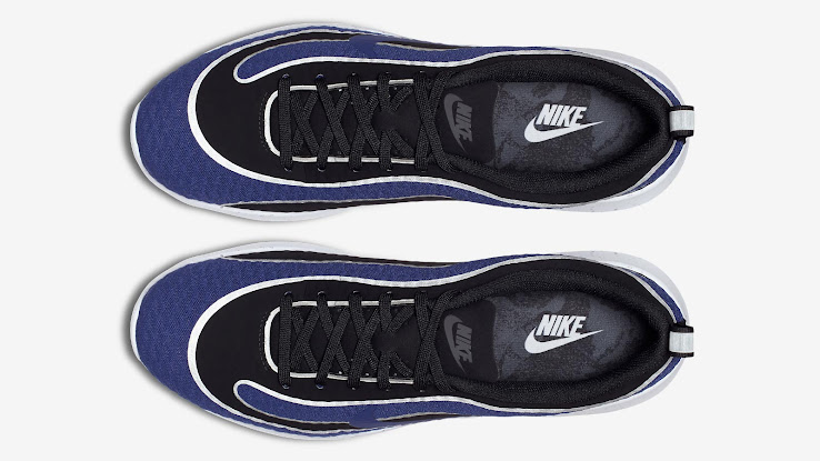 watch 78a7c 8e0bd ... Mercurial, the new Nike Air Max Mercurial R9 s upper is split between  black and blue, while a reflective silver is used line shapes on the design.