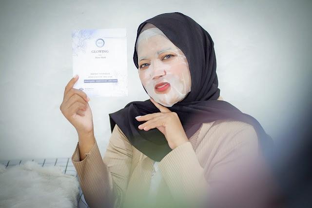 masker glowing dl slim & skin care