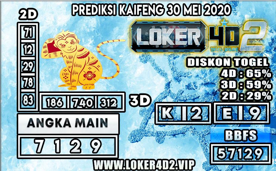 PREDIKSI TOGEL KAIFENG LOKER4D2 30 MEI 2020