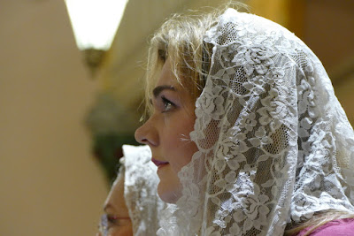 girl in mantilla