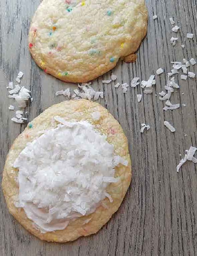 frosted and unfrosted angel sugar cookies