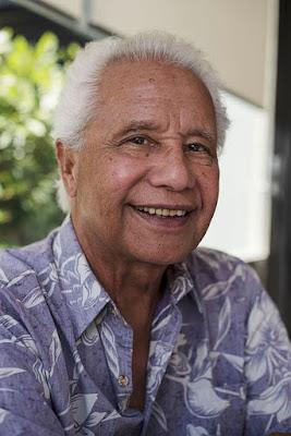 Smiling Samoan man.