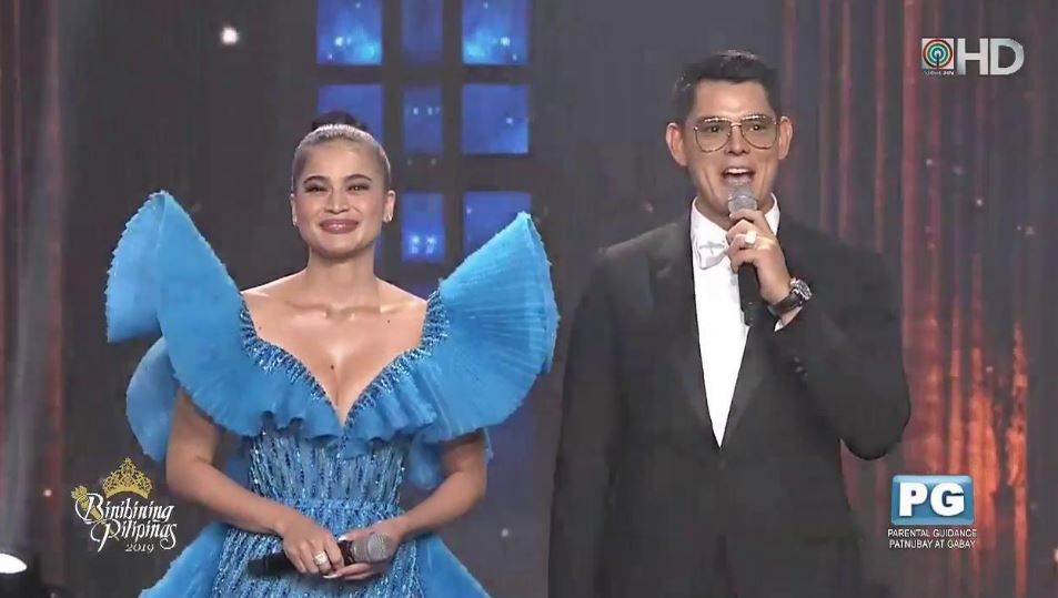 Richard Gutierrez and Anne Curtis served as hosts of Bb. Pilipinas 2019.
