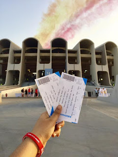 A view from inside @zayed sports stadium abudhabi holding tickets