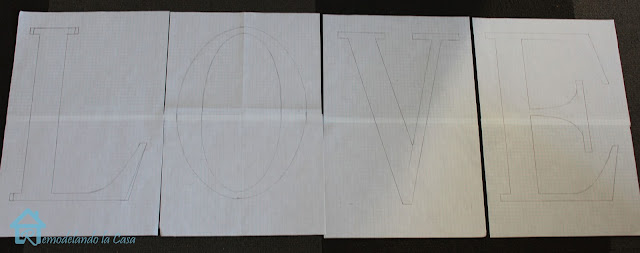 tracing letters on paper to cut out on wood
