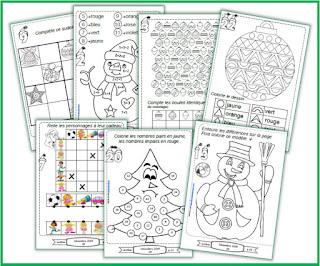 carnet de jeux, coloriages magiques, mots croisés, sudoku de décembre, calendrier de l'avent