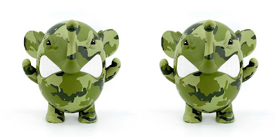 3DRetro Exclusive Charlie the Angry Elephant Woodland Camo Edition Vinyl Figure by AngelOnce x UVD Toys
