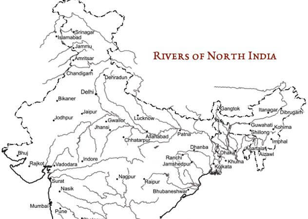 Rivers & Cities of North India