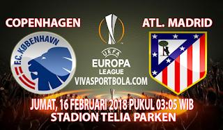 Prediksi FC Copenhagen vs Atletico Madrid 16 Februari 2018