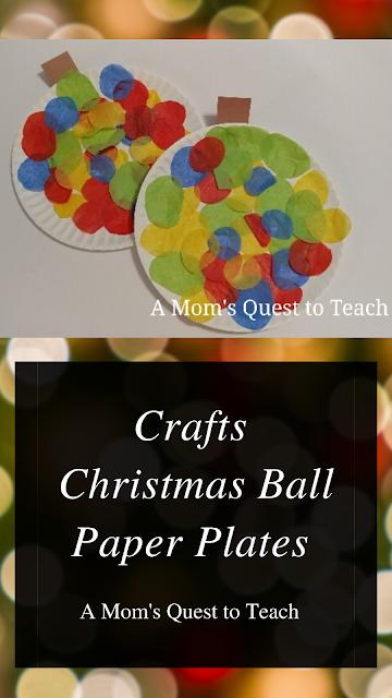 Christmas Craft pin for Christmas Ball Paper Plate