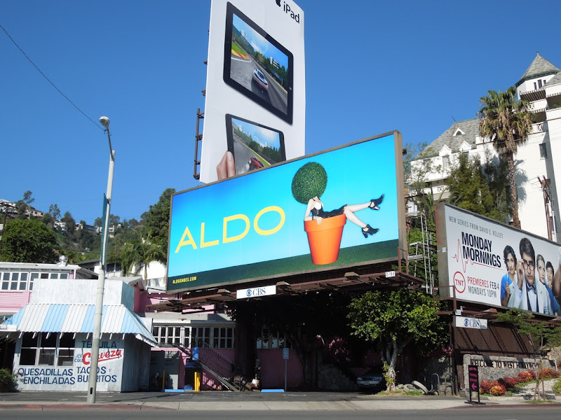 Aldo Shoes flowerpot billboard