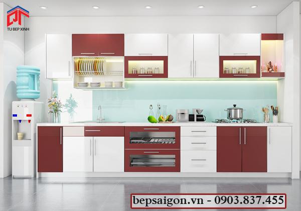 tủ bếp, tủ bếp gia đình, tủ bếp hiện đại, tủ bếp acrylic