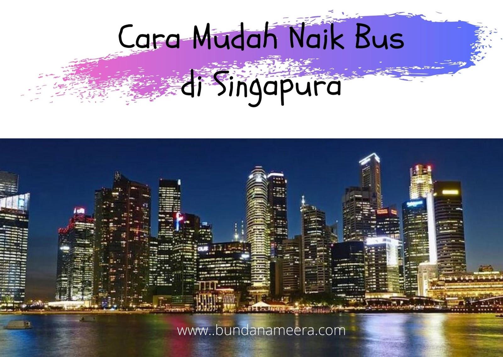 tips naik bus di Singapura, aturan naik bus di Singapura