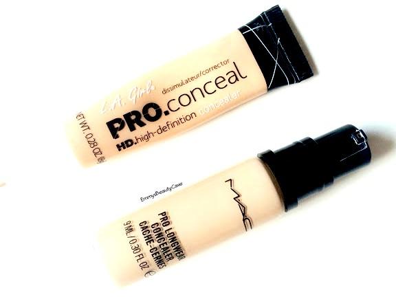 LA Girl Pro Concealer vs MAC Pro Longwear Comparison