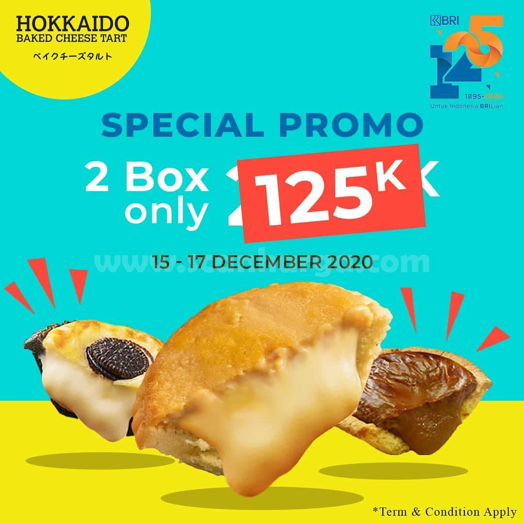 Hokkaido Baked Cheese Tart Promo 2 Box Only 125K dengan Kartu Debit BRI Brizzi