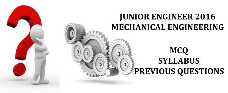 Junior Engineer Mechanical 2016