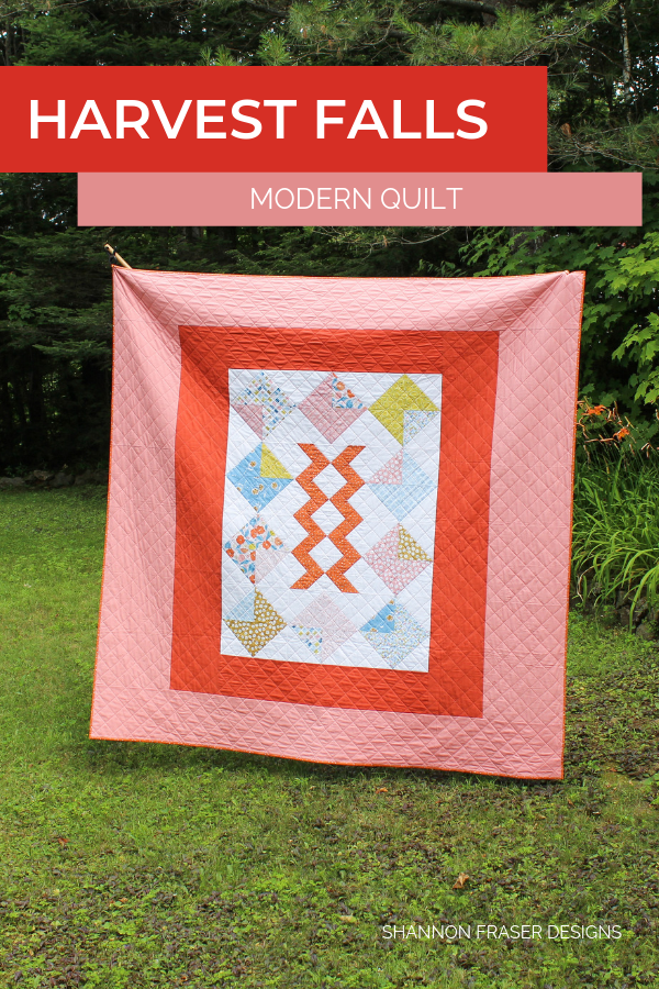 Harvest Falls Quilt in the wild | Featured in Love Patchwork & Quilting Magazine | Shannon Fraser Designs #quiltinthewild #modernquilt