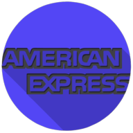 american express colorful button