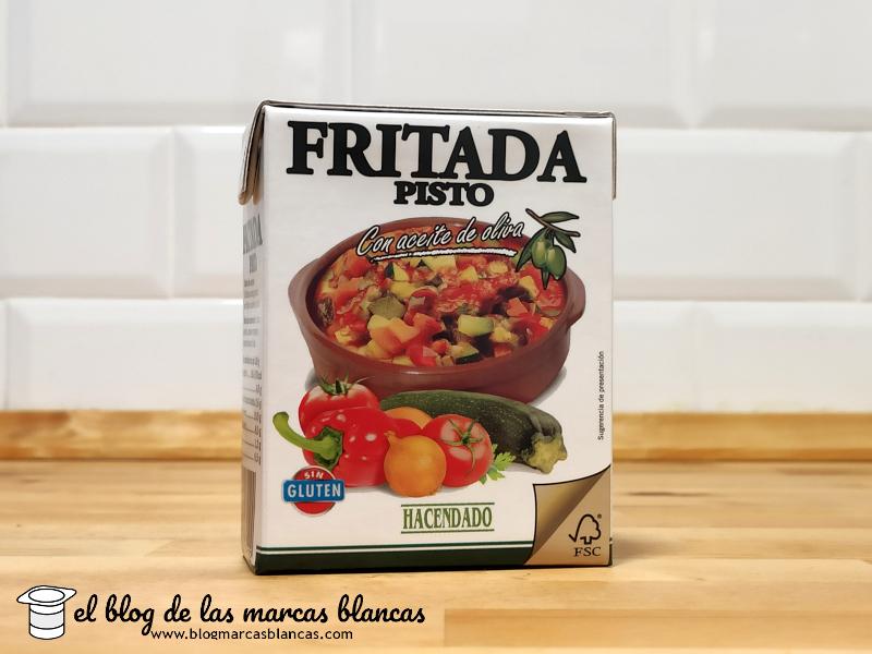 Fritada (pisto) elaborada con aceite de oliva HACENDADO de Mercadona