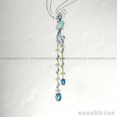 long diamond earrings designs