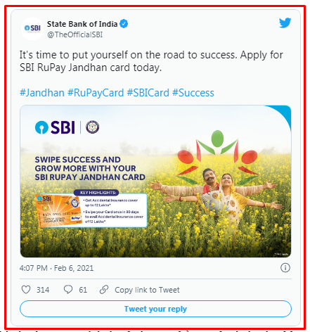 Apply Today For SBI Rupay Jan Dhan Card, You Will Get A Benefit Of Rs 2 Lakh