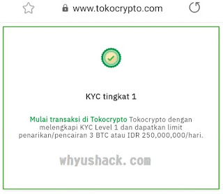Tampilan Verifikasi KYC1 telah diverifikasi 2