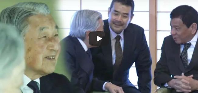 Ang Mainit na Pag-welcome ni Emperor Akihito kay Duterte at Honeylet na Di Pinakita sa TV