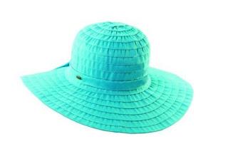 turquoise scala hat