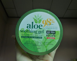 aloe vera known with its cooling agent which lead to reducing sunburn